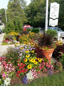 Flowers at The White Gull Inn, Fish Creek